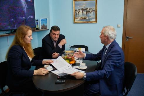 М.В. Забелина, В.Г. Соловьёв, Н.А. Кузнецов, 12 января 2018 года