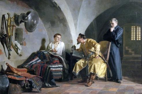 «Дмитрий Самозванец у Вишневецкого». Н.В. Неврев. 1876 г.