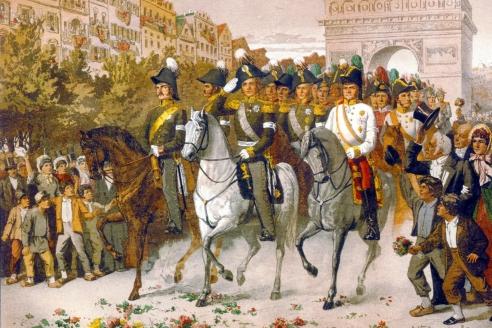 «Вступление русских и союзных войск в Париж» А. Кившенко. 1880 г.
