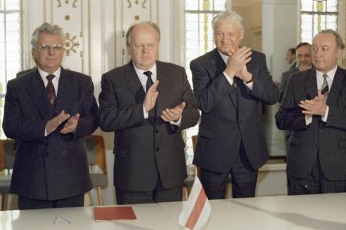 Подписание Беловежских соглашений. 8 декабря 1991 г.