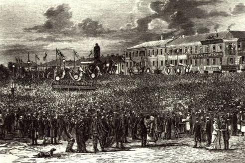 Открытие памятника А.С. Пушкина на Страстной площади. 1880 г.