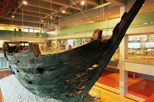 Ганзейский когг в Музее судоходства в Бремерхафене