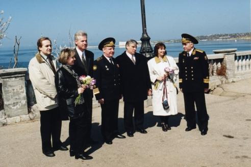 И. Касатонов с шефами-москвичами