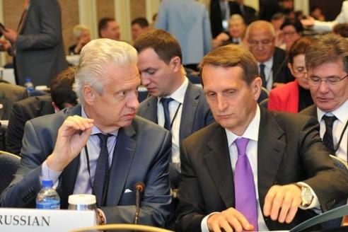 Со спикером Госдумы С. Нарышкиным