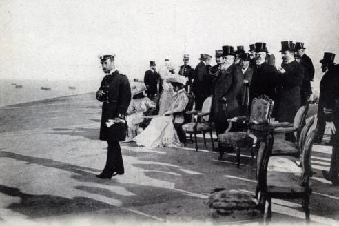 Император Николай II во время визита во Францию. Шербург. 23 сентября 1896 г.