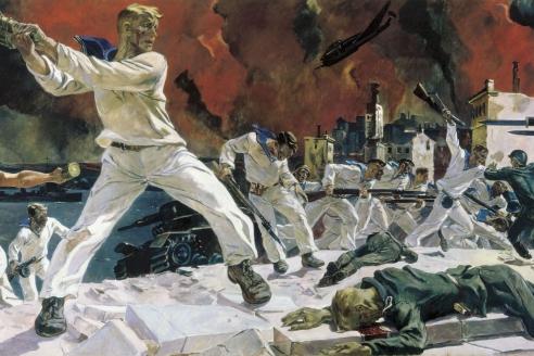 """""""Оборона Севастополя"""". 1942 г. А.А. Дейнека"""