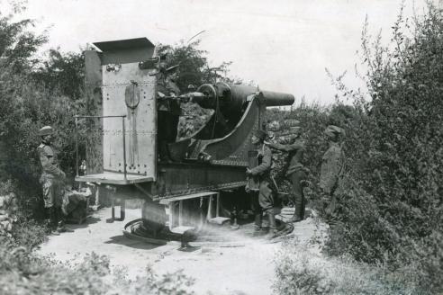 Русская артиллерийская батарея на Калемегдане. 1915 г.