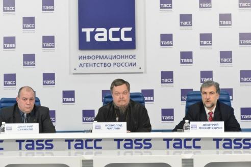 Пресс-конференция на тему «План создания финансовой системы на основе православных ценностей» в информационном агентстве России «ТАСС». 22 декабря 2014 г.