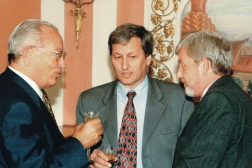 Приём делегации. 1998 г.