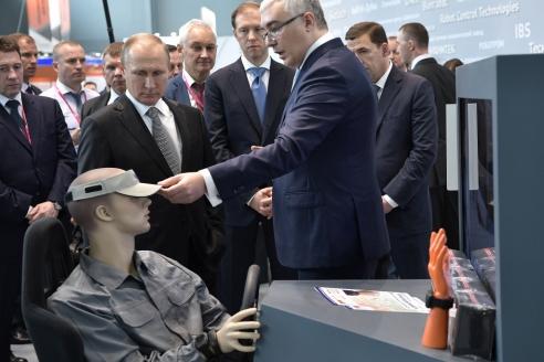 На международной выставке «Иннопром‑2017» в Екатеринбурге