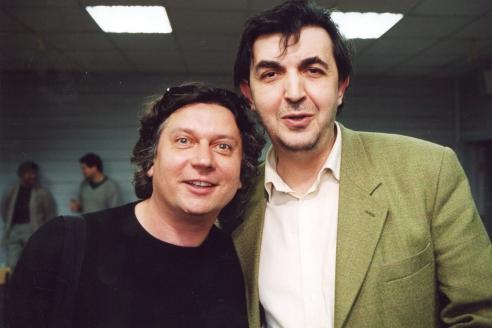 С коллегой Сергеем Земцовым