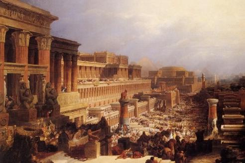 «Евреи покидают Египет». Д. Робертс. 1828 г.