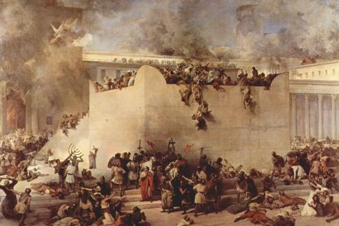 """Разрушение Иерусалимского храма"". Ф. Айец"
