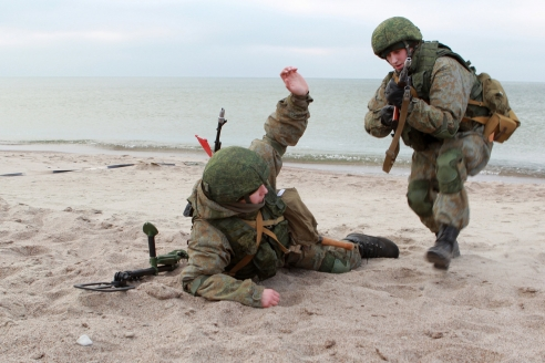 Учебная высадка десанта на берег