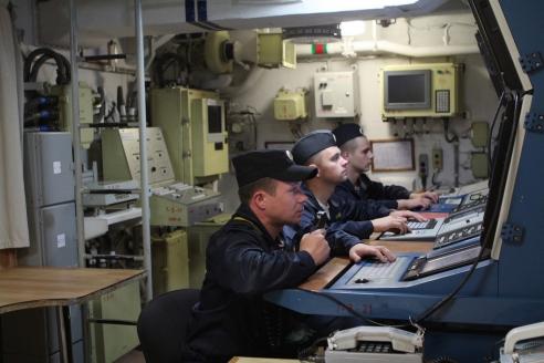 На тренировке попротивоздушной обороне