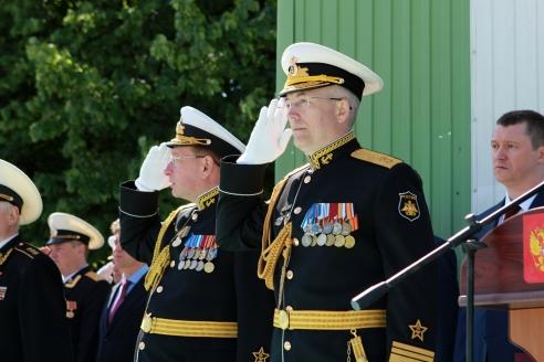 Командующий Балтийским флотом вице-адмирал А.М. Носатов