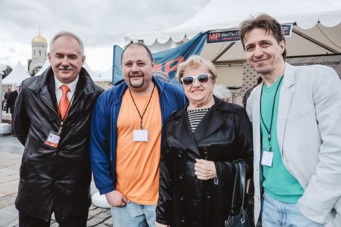Первый Секретарь Союза журналистов Москвы Л.В. Щербина с коллективом МР, 12 июня 2016 года