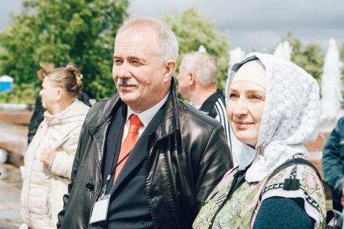 Н.А Кузнецов и Г.А. Хизриева на ХIV Московском фестивале прессы