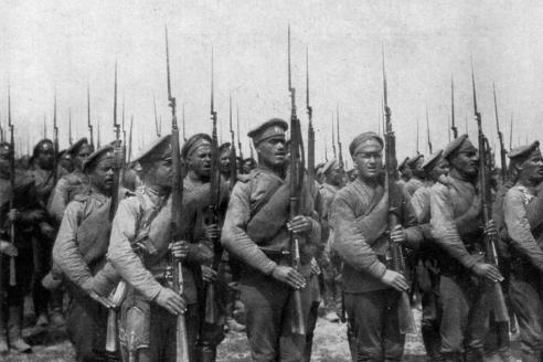 Солдаты Фанагорийского полка