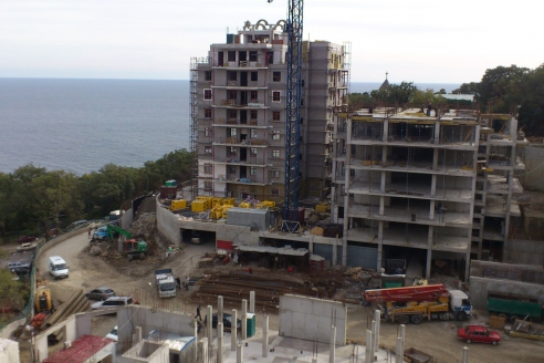 Строящийся отельв Феодосии