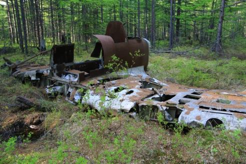 Останки самолёта Ил-10. Поронайский район