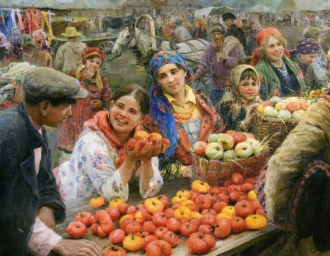 «Колхозный базар». Ф. Сычков