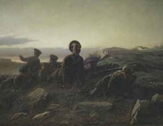 """""""Пластуны под Севастополем"""". В.Г. Перов. 1874 г."""