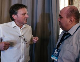 Борис Титов и Дмитрий Сурмило на внеочередном съезде Всероссийской политической партии «ПАРТИЯ РОСТА», 4 июля 2016 года