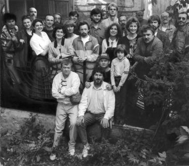 Труппа театра, создатели и участники спектакля «Литургия оглашенных