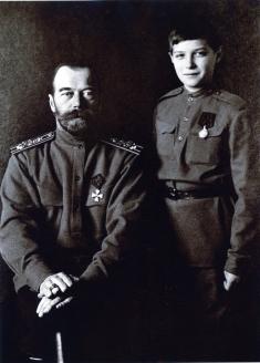 Император Николай II и Наследник Цесаревич Алексей. 17 ноября 1915 г.