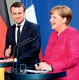 Э. Макрон и А. Меркель