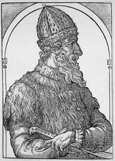 Иван III. Гравюра  из «Космографии»  А. Теве. 1575 г.