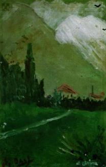 """""""Пейзаж близ Фигераса"""". 1910 г."""
