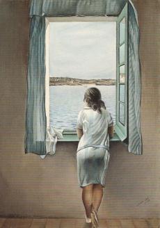"""""""Женская фигура у окна"""". 1925 г."""