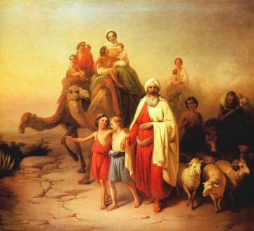 """""""Переселение Авраама"""". Й. Молнар. 1850 г."""