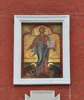 Надвратный образ «Спас Смоленский» на Спасской башне
