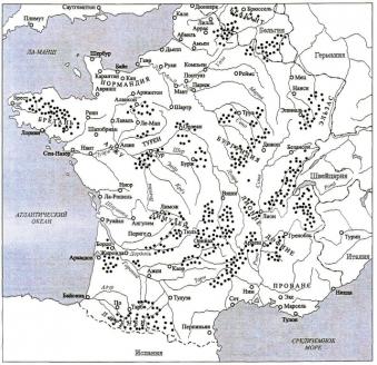 Карта дислокации партизанских отрядов. 1944 г.