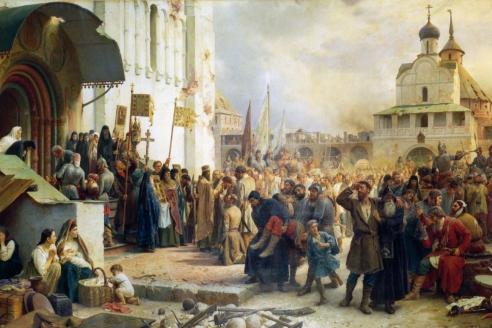 «Осада Троице-Сергиевой лавры». В.П. Верещагин. 1891 г.