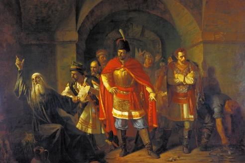 «Патриарх Гемоген отказывает полякам подписать грамоту». П.П. Чистяков. 1760 г.