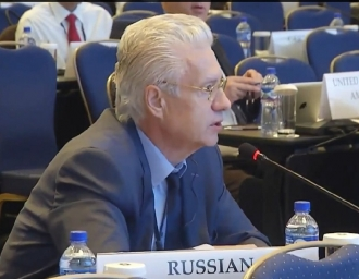 На сессии Парламентской ассамблеи ОБСЕ в Монголии. 2015 г.