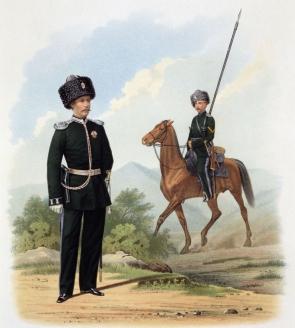 Оренбургское казачье войско: пешие батальоны и конные полки. К.К. Пиратский. 1867 г.